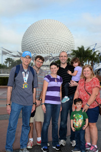 Bob Pohl and family in Disney