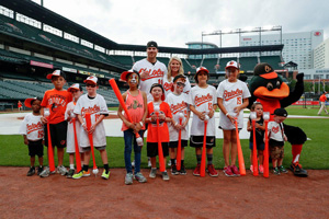 Chris & Jill Davis with T-ball participants