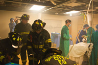 Simulation training with fire department