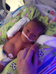 Andrew Cameron in the NICU