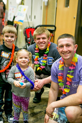 SigEp with kids at NICU Reunion