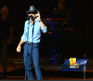 Tim McGraw performs at benefit concert in Baltimore